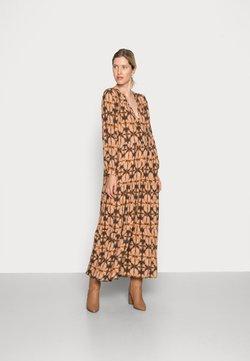 by-bar - JULIA BATIK DRESS - Vestido largo - brown