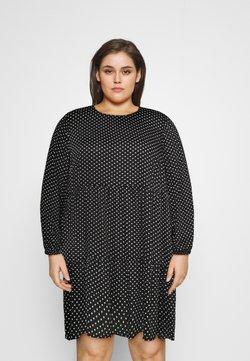 Vero Moda Curve - VMFIE SHORT DRESS - Freizeitkleid - black/birch dot