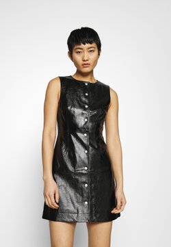 Calvin Klein Jeans - HIGH SHINE SHIFT DRESS - Robe d'été - black
