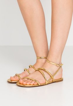 Pura Lopez - Sandalen - mirror gold
