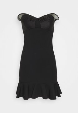 Topshop - MIX MINI DRESS - Day dress - black