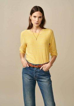 Bellerose - GOPS - Sweatshirt - gelb weiß gestreift