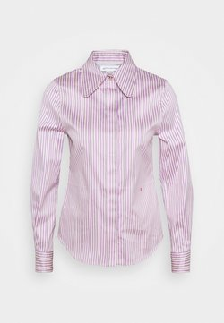 Victoria Beckham - CLUB COLLAR FITTED SHIRT - Camicetta - lilac/off white