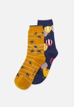 Thought - 2 PACK - Socken - mineral blue/sunflower yellow