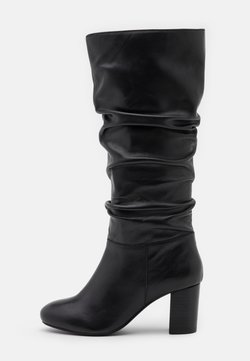 Dorothy Perkins - ORELIA RUCHED LONG BOOT - Saappaat - black