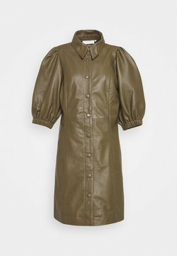 Copenhagen Muse - ROYAL - Robe chemise - dark olive