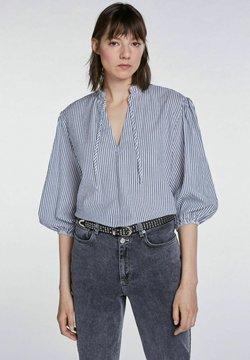 SET - Bluse - blue white