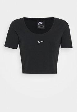 Nike Sportswear - CROP - T-shirt con stampa - black