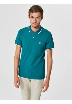Selected Homme - SLHNEWSEASON - Poloshirt - green/dark green
