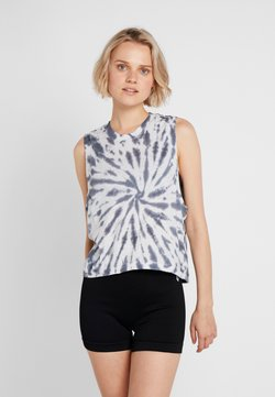 Free People - FP MOVEMENT LOVE TANK TIE DYE - Top - blue/white