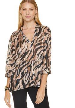 comma - Bluse - black zebra lines