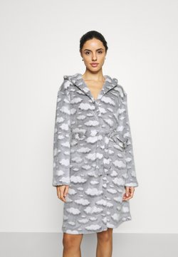 Loungeable - CLOUD SHERPA HOODED ROBE - Peignoir - grey