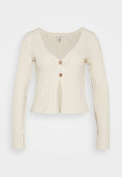 Nly by Nelly - BUTTON DOWN CARDIGAN - Gilet - creme