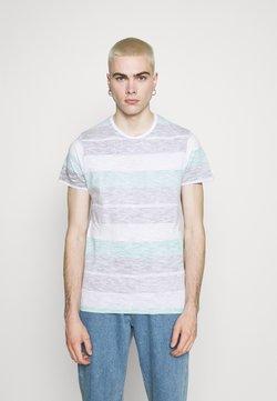 Brave Soul - RANGE - T-Shirt print - optic white/purple/mint/black