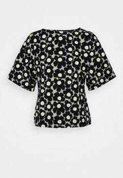 Marimekko - KYSE UNIKKO  - T-Shirt print - beige/black/yellow
