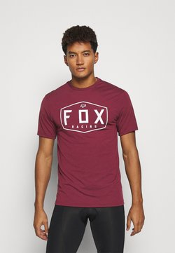 Fox Racing - CREST TECH TEE - T-Shirt print - cranberry