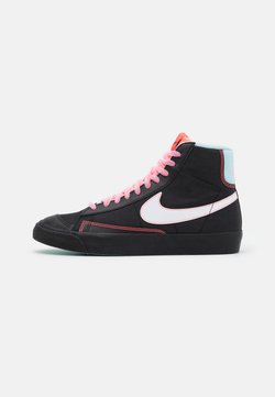 Nike Sportswear - BLAZER MID '77 - Sneaker high - black/white/flash crimson/atomic pink/glacier ice