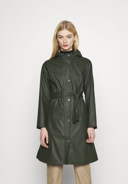 KnowledgeCotton Apparel - JASMINE LONG RAIN JACKET - Regenjacke / wasserabweisende Jacke - forrest night