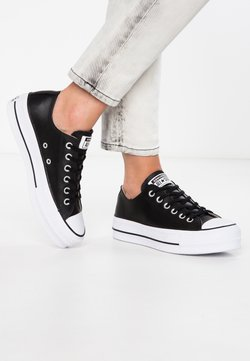 Converse - CHUCK TAYLOR ALL STAR LIFT CLEAN - Sneakers laag - black/white