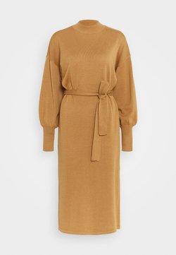 Vero Moda - VMMELA HIGH NECK CALF DRESS - Jumper dress - tobacco brown
