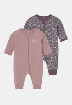 Name it - NBFNIGHTSUIT 2 PACK - Pijama - black plum