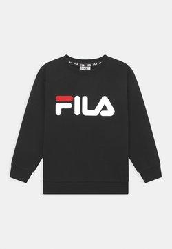 Fila - TIM LOGO CREW UNISEX - Felpa - black/bright white