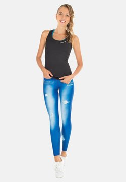 Winshape - HWL102 INDIGO-BLUE HIGH WAIST -TIGHTS - Tights - ocean blue