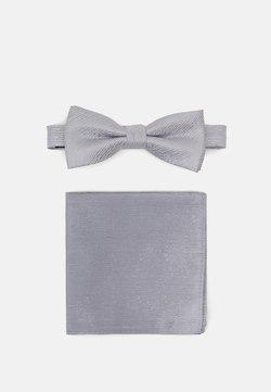 Only & Sons - ONSTOBIAS PATTERN BOWTIE SET - Fliege - quiet grey