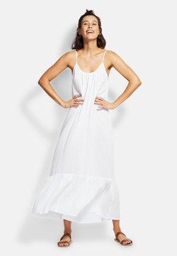 Seafolly - DOUBLE CLOTH MIDI SLIP - Strandaccessoire - white