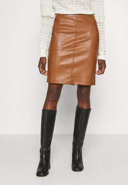 Vila - VIPEN NEW SKIRT - Bleistiftrock - oak brown