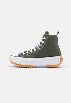 Converse - RUN STAR HIKE RECYCLED UNISEX - Sneakers high - cargo khaki/white/black