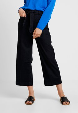 TOM TAILOR - CULOTTE - Flared Jeans - clean rinsed blue denim