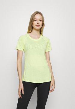 Puma - RAGLAN TEE - T-Shirt print - sunny lime