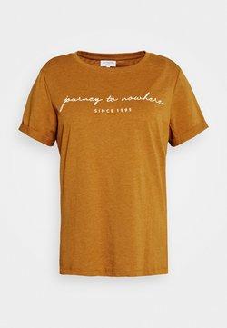 ONLY Carmakoma - CARBESS LIFE TEE - T-shirt print - pumpkin spice melange