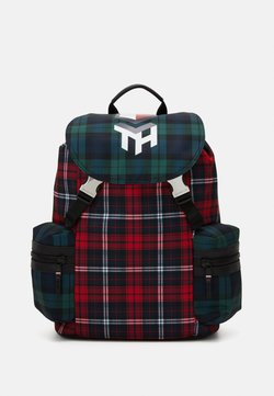 Tommy Hilfiger - HIGHLIGHT FLAP BACKPACK CHECK UNISEX - Reppu - red