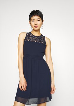 Vero Moda - VMVANESSA SHORT DRESS - Cocktailkleid/festliches Kleid - night sky