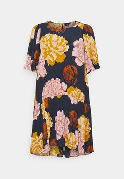 Zizzi - DRESS - Freizeitkleid - navy blazer flower