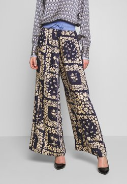 Scotch & Soda - WIDE LEG PANTS WITH CONTRAST WAISTBAND - Stoffhose - blue