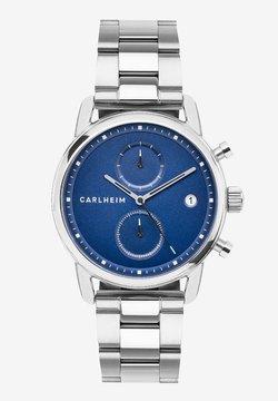 Carlheim - Rannekello ajanottotoiminnolla - silver/blue