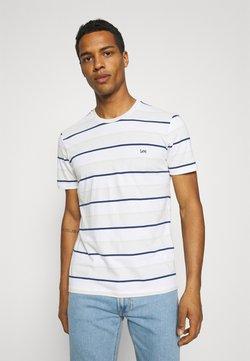 Lee - STRIPE TEE - T-Shirt print - dawn blue