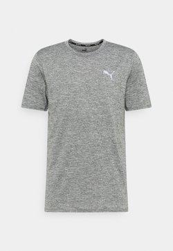 Puma - RUN FAVORITE HEATHER TEE - T-Shirt basic - medium gray heather