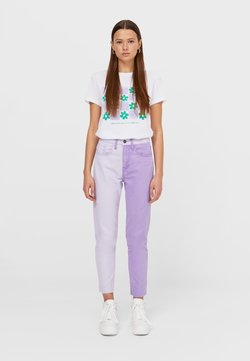 Stradivarius - Jeans Relaxed Fit - mauve
