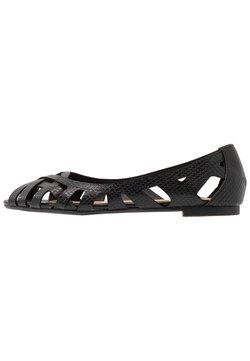 Head over Heels by Dune - HARLO - Peeptoe ballerina's - black