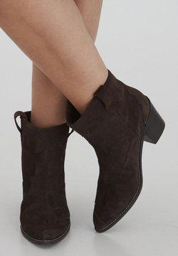 ICHI - Ankle Boot - chocolate lab