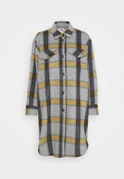 DESIGNERS REMIX - AMARA SHIRT COAT - Vestido informal - yellow/grey check