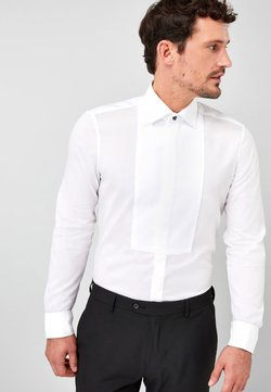 Next - BIB FRONTED DRESS SHIRT - Camicia elegante - white