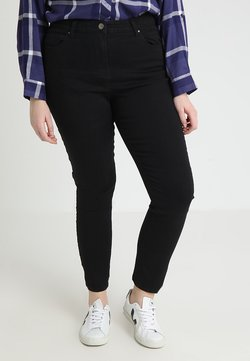 CAPSULE by Simply Be - LEXI HIGH WAIST SUPER SOFT LEG - Slim fit jeans - black