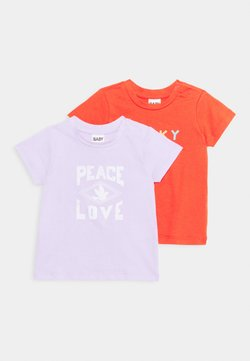 Cotton On - JAMIE SHORT SLEEVE TEE 2 PACK UNISEX - T-shirt print - lilac/red