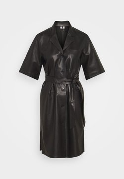 ARKET - GLIMMER LEATHER DRESS - Robe d'été - black