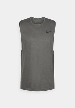 Nike Performance - SUPERSET TANK - Linne - iron grey/black
